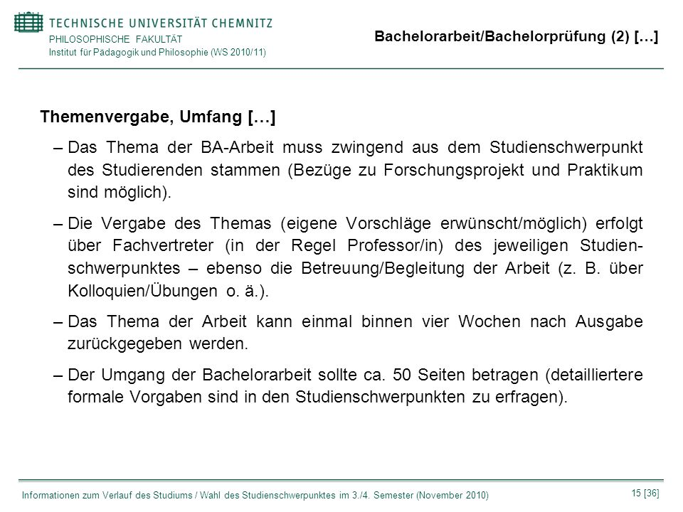 Bachelorarbeit/Bachelorprüfung (2) […]